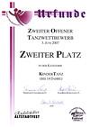 Platz 2 Rudolstandt 2007 Tanzmäuse